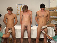 5 very hot guys enjoying some great sex during medical examinations