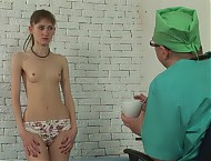Humiliating female checkup