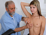 Gina Gerson, 20 years girl gyno exam. Inspection with heartbeat, pulse and physical exam, enema, perineum and  anal exam, vaginal depth, two speculums, vibrator orgasm and suppository.