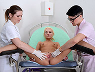 Natasha, 20 years. Checkup with doctor and nurse. Enema, breasts exam vaginal and anal inspection, ultrasound and electro-therapy orgasm.