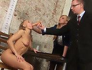 Secretary naked and DPed