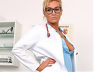 Leggy Milf doctor Brigitte unexpected cum-in-mounth