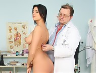 Agnes puss inspection at kinky gyno clinic
