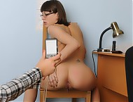 Undressed office girl