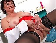 Stockings doctor lady Matilda fucked by big dick